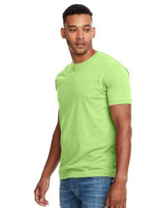 Neon Hthr Green Men's Premium Fitted CVC Crew Tee