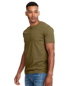 Military Green Men's Premium Fitted CVC Crew Tee
