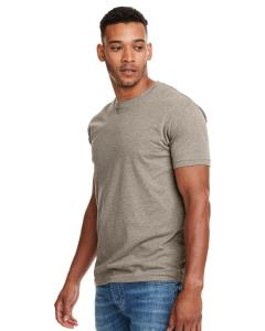 Stone Gray Men's Premium Fitted CVC Crew Tee