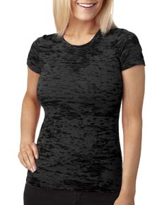 Black Ladies' Burnout Tee