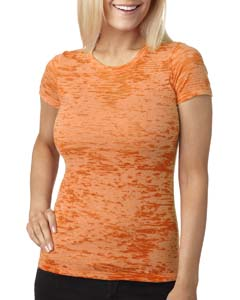 Neon Orange Ladies' Burnout Tee