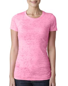 Neon Pink Ladies' Burnout Tee