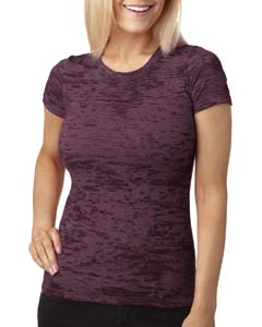 Plum Ladies' Burnout Tee