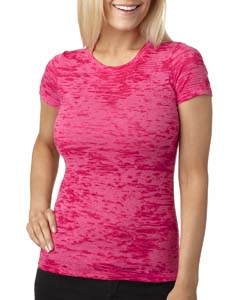 Shocking Pink Ladies' Burnout Tee