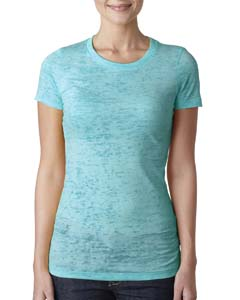 Tahiti Blue Ladies' Burnout Tee