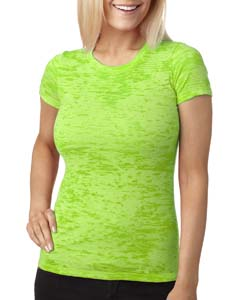 Neon Green Ladies' Burnout Tee