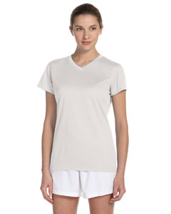White Women's Ndurance Athletic V-Neck T-Shirt