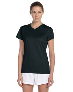 Black Women's Ndurance Athletic V-Neck T-Shirt