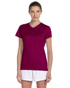 Maroon Women's Ndurance Athletic V-Neck T-Shirt