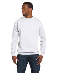 White 7.8 oz. ComfortBlend® EcoSmart® 50/50 Fleece Crew