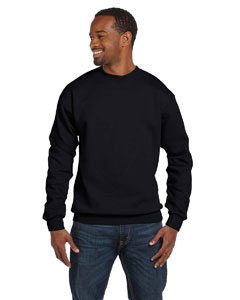Black 7.8 oz. ComfortBlend® EcoSmart® 50/50 Fleece Crew