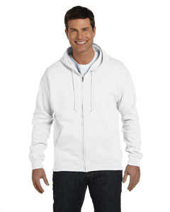 White 7.8 oz. ComfortBlend® EcoSmart® 50/50 Full-Zip Hood
