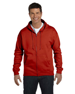 Deep Red 7.8 oz. ComfortBlend® EcoSmart® 50/50 Full-Zip Hood