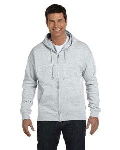 Ash 7.8 oz. ComfortBlend® EcoSmart® 50/50 Full-Zip Hood
