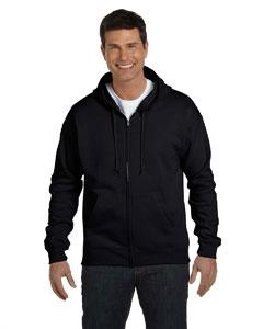 Black 7.8 oz. ComfortBlend® EcoSmart® 50/50 Full-Zip Hood