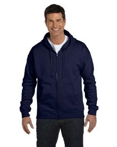 Navy 7.8 oz. ComfortBlend® EcoSmart® 50/50 Full-Zip Hood