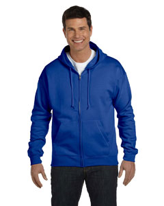 Deep Royal 7.8 oz. ComfortBlend® EcoSmart® 50/50 Full-Zip Hood