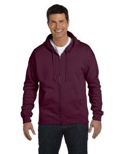 Maroon 7.8 oz. ComfortBlend® EcoSmart® 50/50 Full-Zip Hood