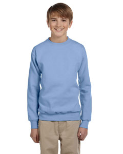 Light Blue Youth 7.8 oz. ComfortBlend® EcoSmart® 50/50 Fleece Crew