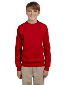 Deep Red Youth 7.8 oz. ComfortBlend® EcoSmart® 50/50 Fleece Crew