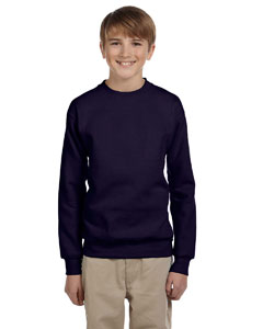 Navy Youth 7.8 oz. ComfortBlend® EcoSmart® 50/50 Fleece Crew