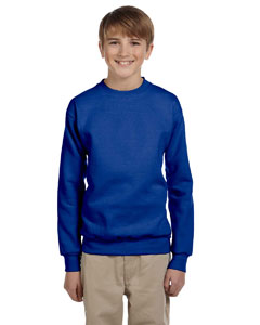 Deep Royal Youth 7.8 oz. ComfortBlend® EcoSmart® 50/50 Fleece Crew