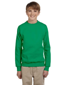 Kelly Green Youth 7.8 oz. ComfortBlend® EcoSmart® 50/50 Fleece Crew