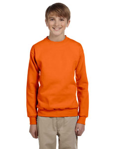 Orange Youth 7.8 oz. ComfortBlend® EcoSmart® 50/50 Fleece Crew