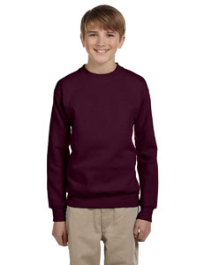 Maroon Youth 7.8 oz. ComfortBlend® EcoSmart® 50/50 Fleece Crew