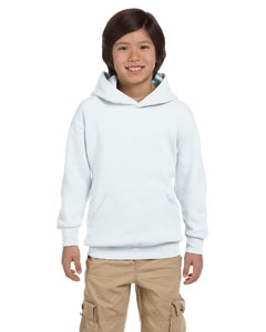 White Youth 7.8 oz. ComfortBlend® EcoSmart® 50/50 Pullover Hood