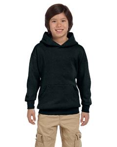 Black Youth 7.8 oz. ComfortBlend® EcoSmart® 50/50 Pullover Hood