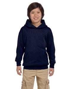 Navy Youth 7.8 oz. ComfortBlend® EcoSmart® 50/50 Pullover Hood