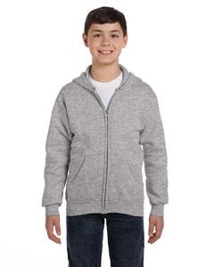 Light Steel Youth 7.8 oz. ComfortBlend® EcoSmart® 50/50 Full-Zip Hood