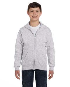 Ash Youth 7.8 oz. ComfortBlend® EcoSmart® 50/50 Full-Zip Hood