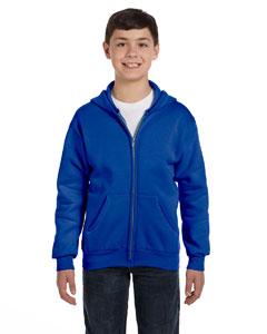 Deep Royal Youth 7.8 oz. ComfortBlend® EcoSmart® 50/50 Full-Zip Hood