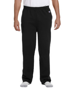 Black Eco® 9 oz., 50/50 Open-Bottom Pants