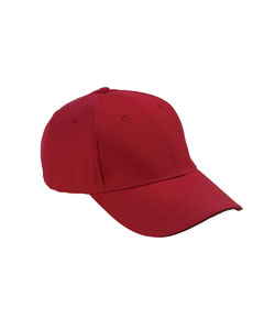 Red/black 6-Panel Mid-Profile Structured Moisture Management Cap