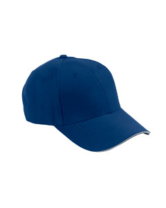 Royal/white 6-Panel Mid-Profile Structured Moisture Management Cap