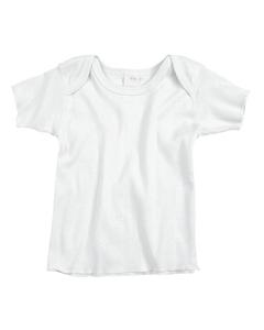 White Infant 5 oz. Baby Rib Lap Shoulder T-Shirt