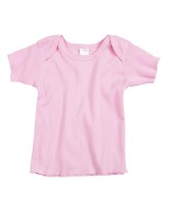 Pink Infant 5 oz. Baby Rib Lap Shoulder T-Shirt