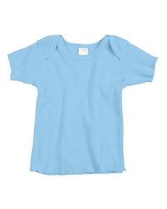 Light Blue Infant 5 oz. Baby Rib Lap Shoulder T-Shirt