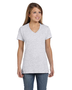Ash Women's 4.5 oz., 100% Ringspun Cotton nano-T® V-Neck T-Shirt