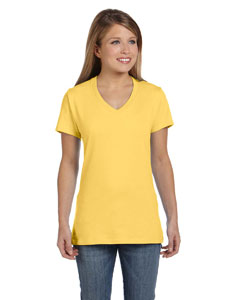 Vintage Gold Women's 4.5 oz., 100% Ringspun Cotton nano-T® V-Neck T-Shirt