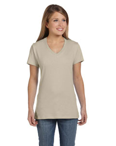 Vintage Khaki Women's 4.5 oz., 100% Ringspun Cotton nano-T® V-Neck T-Shirt