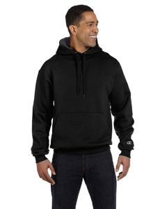 Black/granite Heather 9.7 oz., 90/10 Cotton Max Pullover Hood