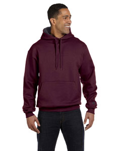 Maroon/granite Hthr 9.7 oz., 90/10 Cotton Max Pullover Hood