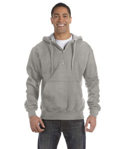 Oxford Gray 9.7 oz., 90/10 Cotton Max Quarter-Zip Hood