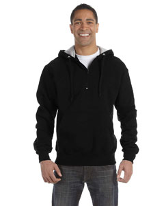 Black 9.7 oz., 90/10 Cotton Max Quarter-Zip Hood