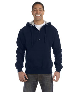 Navy 9.7 oz., 90/10 Cotton Max Quarter-Zip Hood