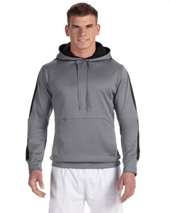 Stone Gray/blk 5.4 oz. Performance Colorblock Pullover Hood